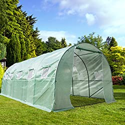 CASUN GARDEN 20'X10'X7' Large Outdoor Portable Greenhouse Walk-in Greenhouse