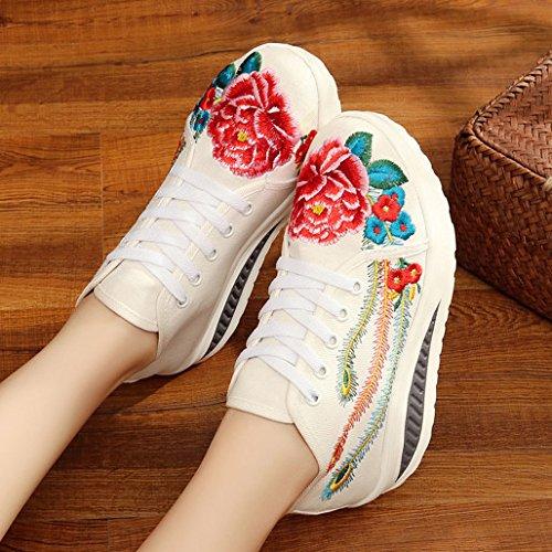GTVERNH-La primavera y el verano en el viejo Beijing zapatos zapatos zapatos casuales zapatos de plataforma zapatos zapatos de estilo folk y Beige