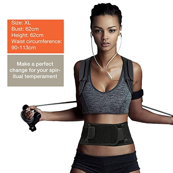 Corrector de Postura, SGODDE Corrección de la Postura Recta Entrenador Apoyo para la Espalda, Dolor en el Cuello y el Hombro Correa para el Hombro para la ...
