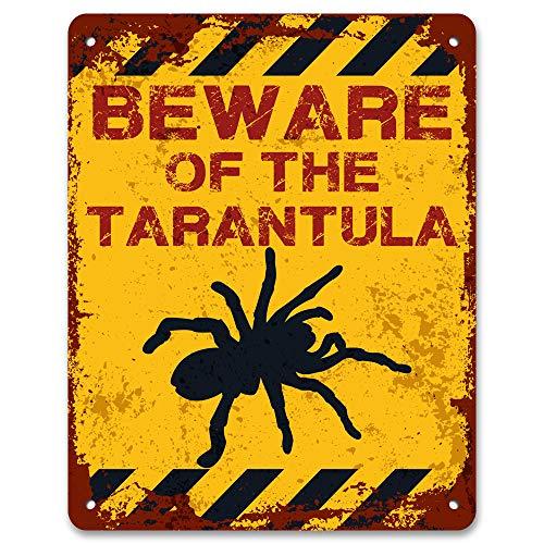 (Print Crafted - Beware of The Tarantula | Vintage Metal Garden Warning)
