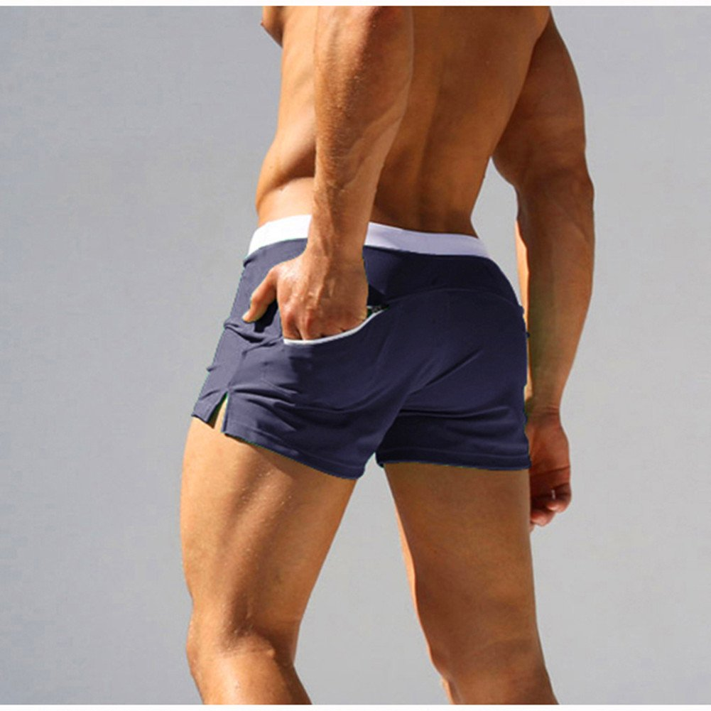 MASS21 Men's Beach Short Swimwear Brief with Adjustable Tie Size XL, Navy by MASS21 (Image #5)