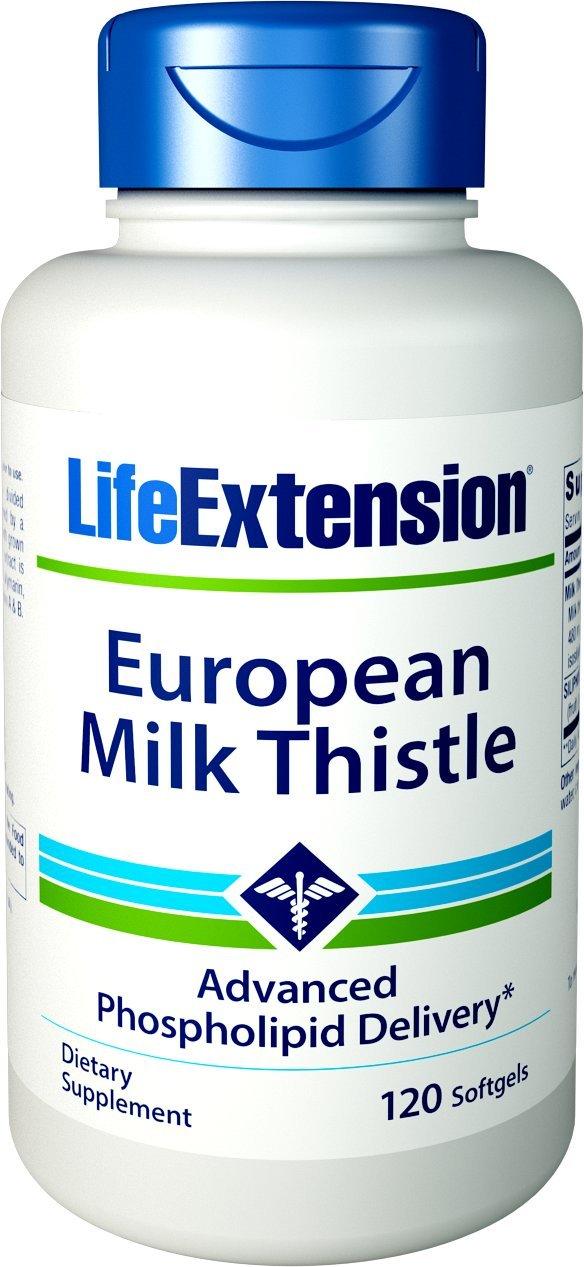 Life Extension European Milk Thistle-Advanced Phospholipid Delivery, 120 Softgels
