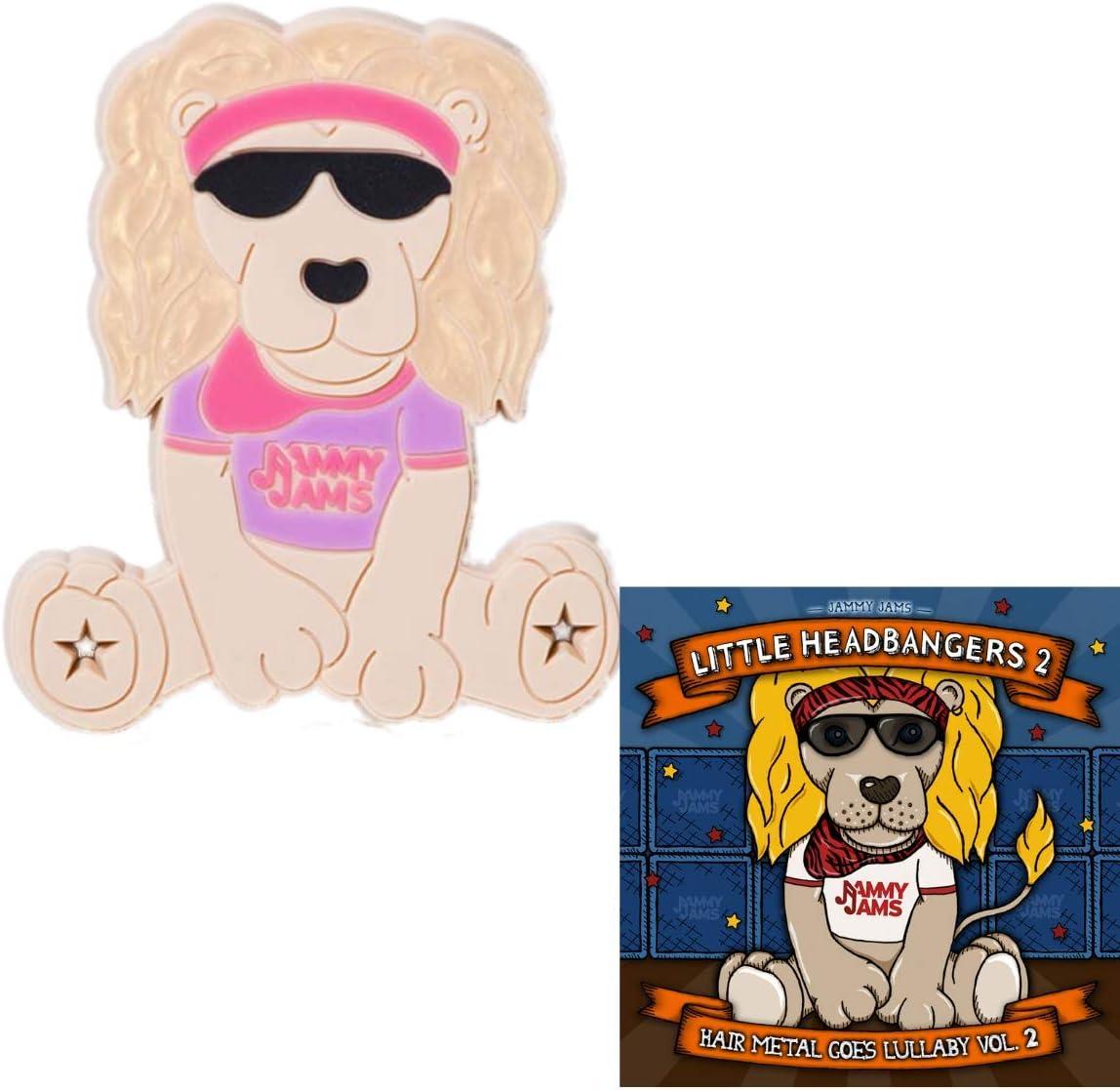 Jammy Jams Lobie The Lion Teething Toy /& Little Headbangers Lullabies Purple /& Pink Teether /& Little Headbangers 2: Hair Metal Goes Lullaby, Vol. 2  - Digital Download