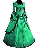 Partiss Women Lace Floor-length Gothic Victorian Dress