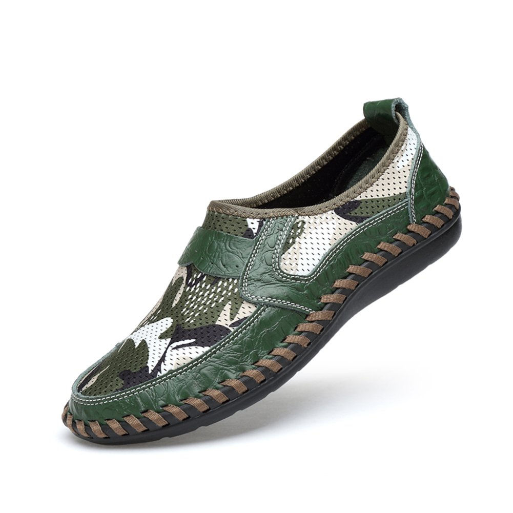 NXY Men's Casual Oxford Shoes Breathable Flat Fashion Green 10