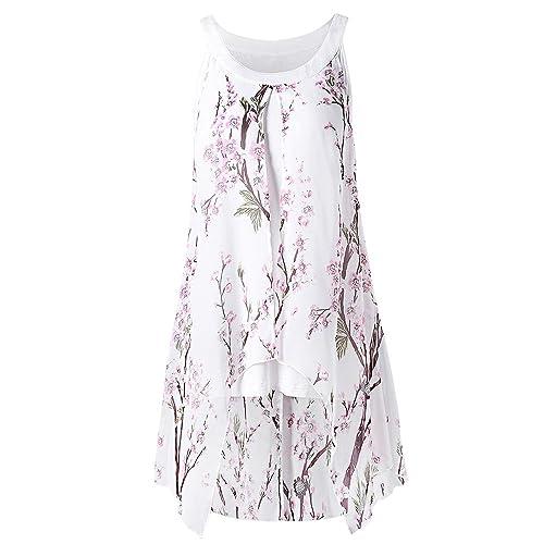 DressLily - Camisas - Cuello redondo - Sin mangas - para mujer