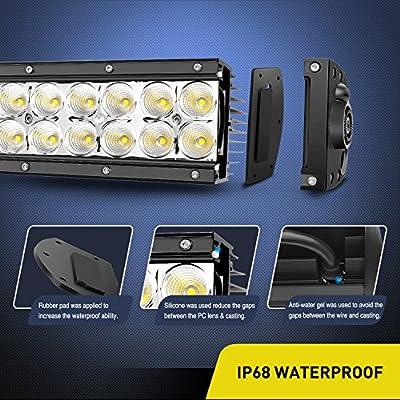 LED Light Bar Nilight 32 Inch 180W Spot Flood Combo LED Driving Lamp Off Road Lights LED Work Light Boat Jeep Lamp,2 Years Warranty: Automotive