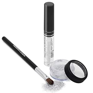 Razzle Dazzle Silver Cosmetic Grade Loose Glitter Makeup Kit with Brush and Glue, Extra Fine, Okay for Eyes, Face, Skin, All Over Body, No Parabens, No Gluten, No Cruelty