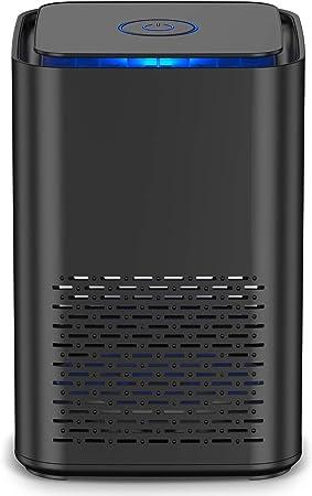 Purificador de Aire Portátil con Filtro HEPA H13 de Grado Médico y Filtro de Carbón Activo,con Función de Aromaterapia, Luz Nocturna, Captura Alergias, Polvo, Humo, Olor, PM2.5 para Hogar y Oficina: Amazon.es: