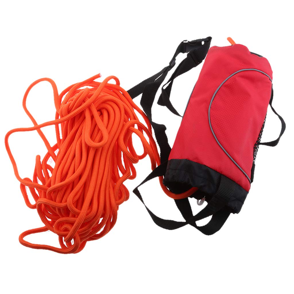 Flameer Red 85ft Safety Water Reflective Rescue Throw Bag Floating Rope Line Kit by Flameer (Image #5)