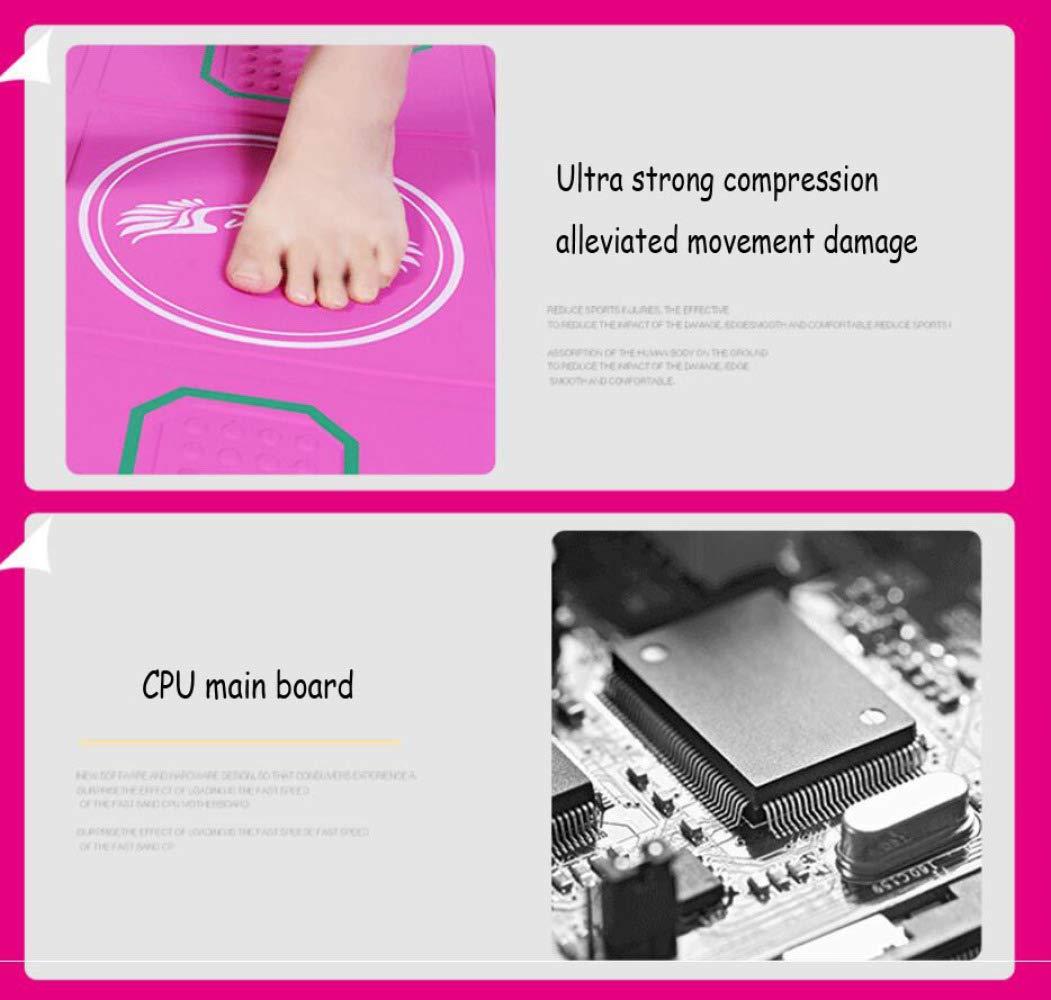 QXMEI Wireless Single Dance Mat TV Computer Dual-use Massage Slimming Dance Machine 9381CM,Pink by QXMEI (Image #4)