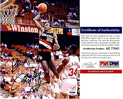 feb81c517a3 Clyde Drexler Signed - Autographed Portland Trail Blazers 8x10 inch Photo -  Huge Signature with Best