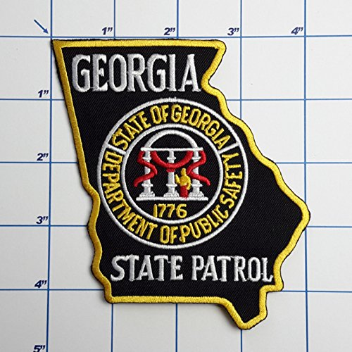 (SNOW - 1 PC US Police Patches - Full Size Embroidered Iron-On Patch Series - Georgia State Patrol )
