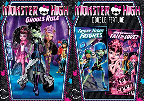 High School Monster Super Pack: Monster High Triple Feature- Ghouls Rule + Friday Night Frights + Why Do Ghouls Fall In Love? DVD Bundle (Ghouls Rule Dvd)
