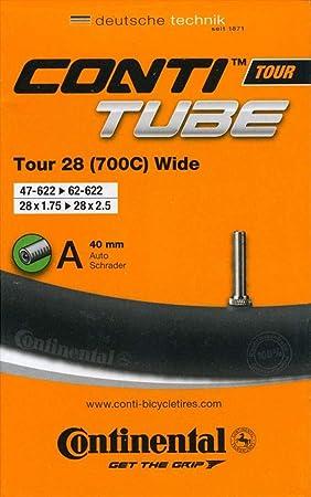 """Continental Schlauch TOUR 28/"""" wide 47-62//622 S42 schwarz Fahrrad Rennradventil"""