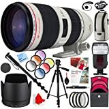 Canon EF 70-200mm f/2.8L IS II USM Telephoto Zoom Lens EOS with Kodak Flash and 77mm Filter Sets Plus Accessories Bundle