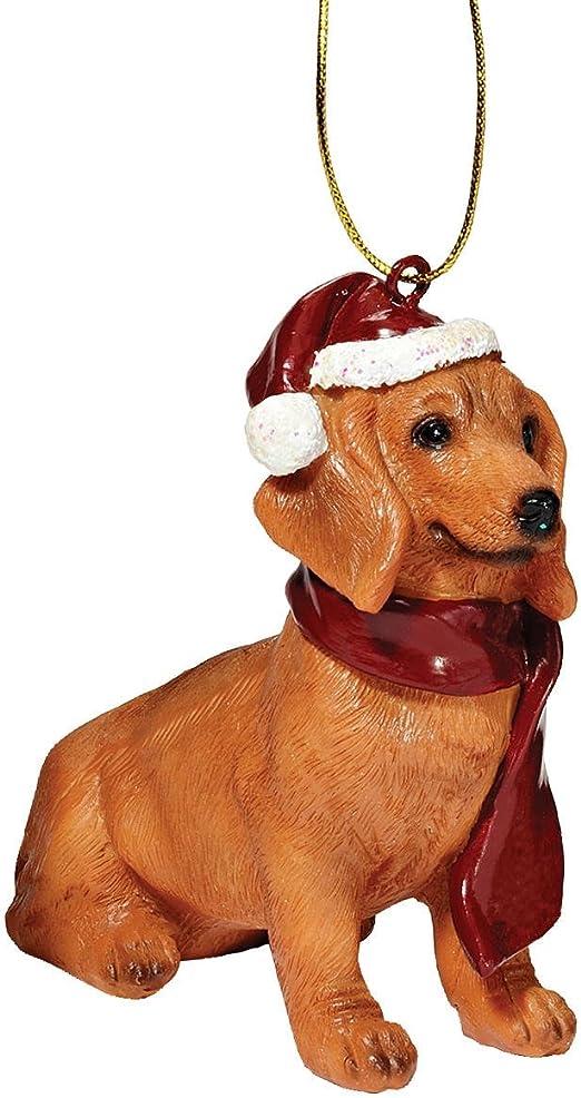 GERMAN SHEPHERD WHITE DOG CHRISTMAS ORNAMENT HOLIDAY XMAS Figurine Scarf  gift