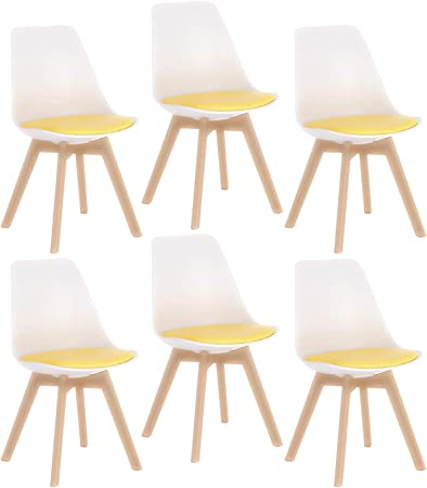 Elightry Pack 6 Patchwork Silla Tower Patas Madera Sillas de ...