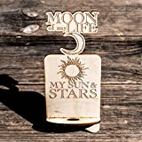 Phone Charging Station - Moon of My Life My Sun and Stars - Raw Wood