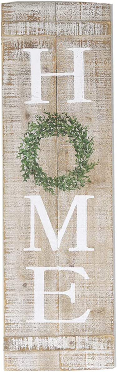 NIKKY HOME Farmhouse Style Home Vertical Wooden Wall Hanging Plaque Sign, 9