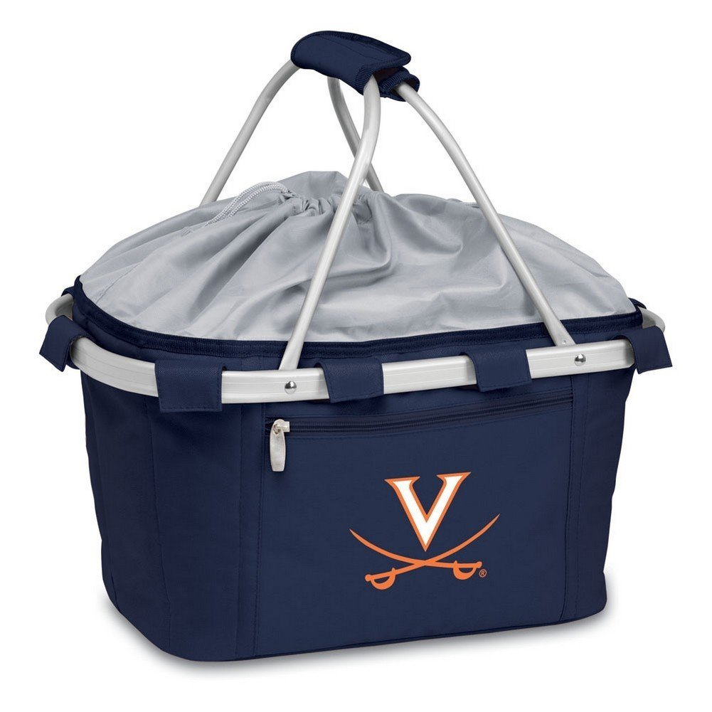 PICNIC TIME NCAA Virginia Cavaliers Embroidered Metro Basket, One Size, Navy