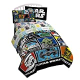 """Star Wars Classic Character Grid 64"""" x 86"""" Twin Reversible Comforter."""