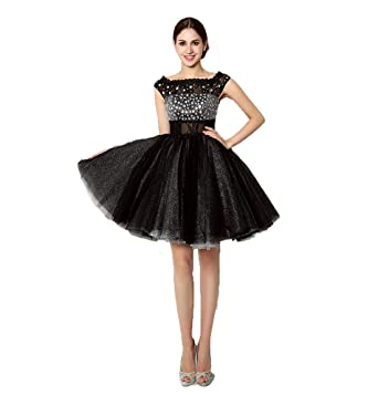 687cfd50469e lemondress Women s Short Tulle Beading Homecoming Dresses 2018 Prom Party  Gowns at Amazon Women s Clothing store