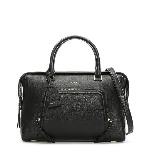 DKNY Bolso De Cuero Negro Vintage Grande Chelsea  Amazon.es  Zapatos y  complementos 2a4c7c589718