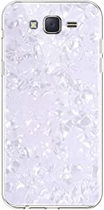 IKASEFU Compatible with Samsung Galaxy J7 2015 Case Luxury Soft TPU Rubber silicone shockproof Bumper Bling Crystal Seashell Ultra Thin Slim Fit Flexible Protective Cute Case Cover,white
