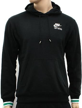 Nike Mens Black/White Hooded Sweatshirt Hoody, Size XL (UK ...
