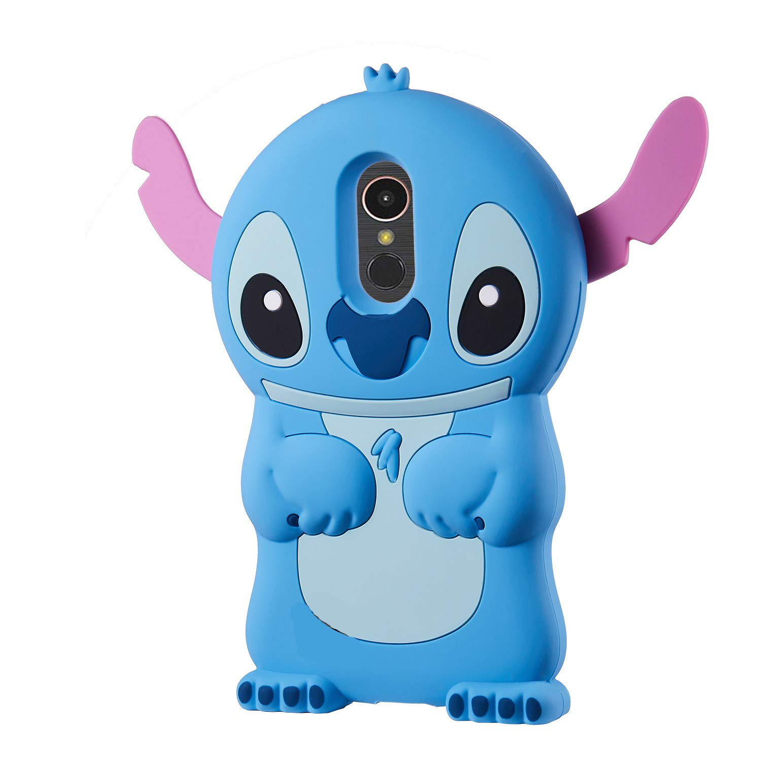 Allsky Case for LG Stylo 4 Plus(Q710) /LG Q Stylus,Cartoon Soft Silicone Cute 3D Fun Cool Cover,Kawaii Unique Kids Girls Teens Animal Character Rubber Skin Shockproof Cases for LG Stylo4 Blue Stitch
