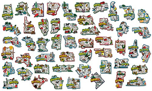 Complete State Jumbo Map Magnet Collection by Classic Magnets