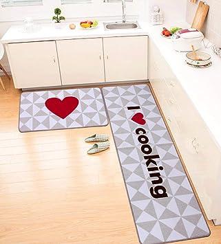 NBE Moqueta Felpudos Ventosa de succión Cocina Mats alfombras Antideslizantes Blended Mats Dormitorio colchones colchón Lavable a máquina (Tamaño : 50 ...