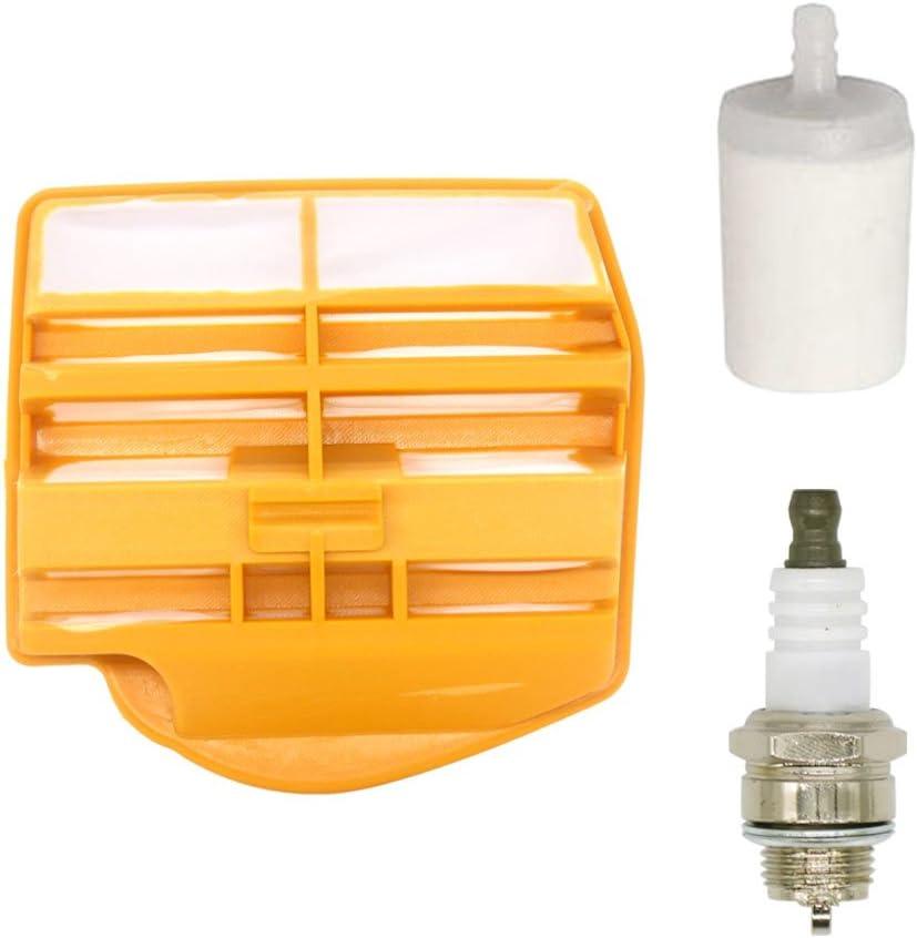 Replace Husqvarna 445 Tune Up Kit Fuel Filter /& Spark Plug Air Filter 450