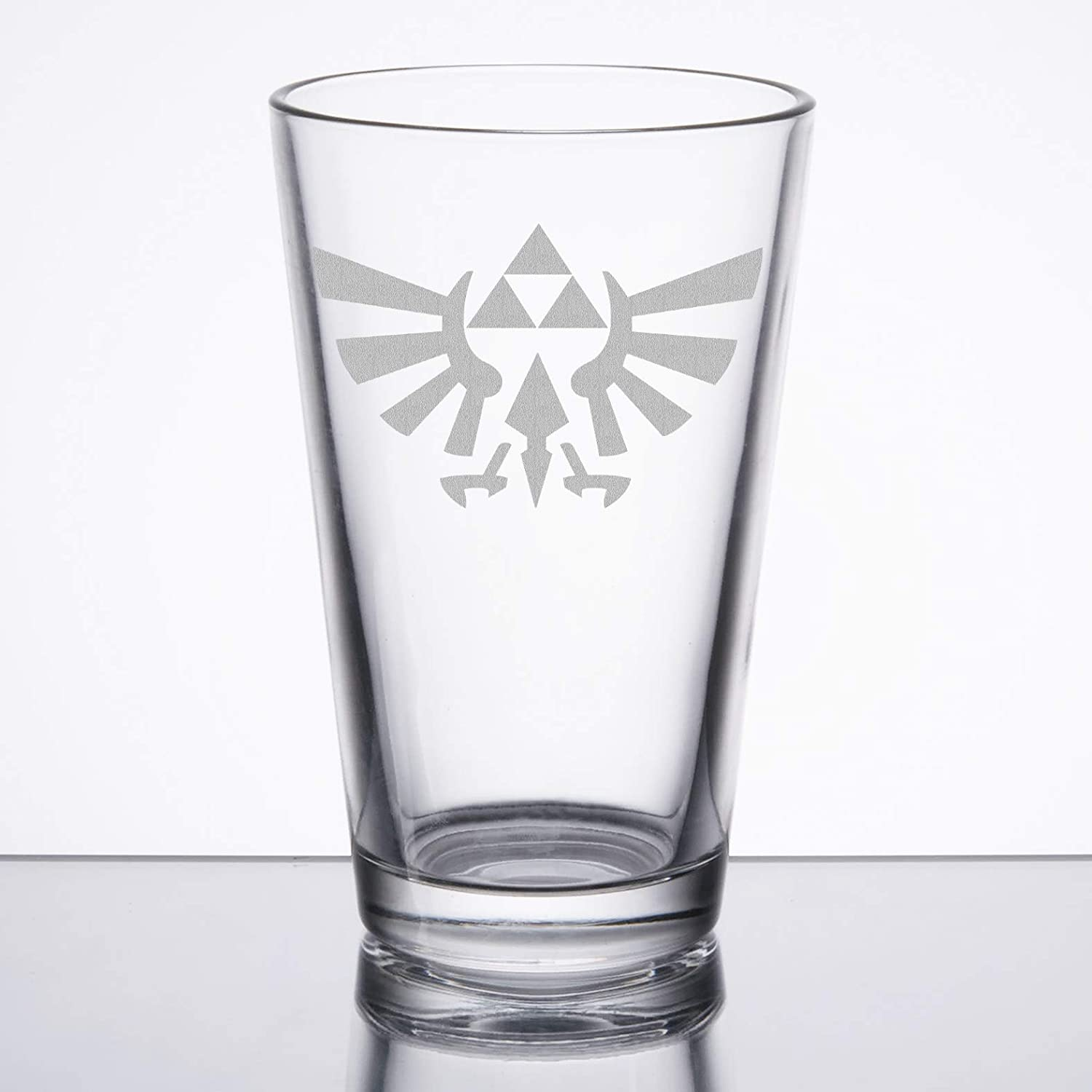 The Legend of Zelda - Triforce (Hylian Crest) - Etched Pint Glass