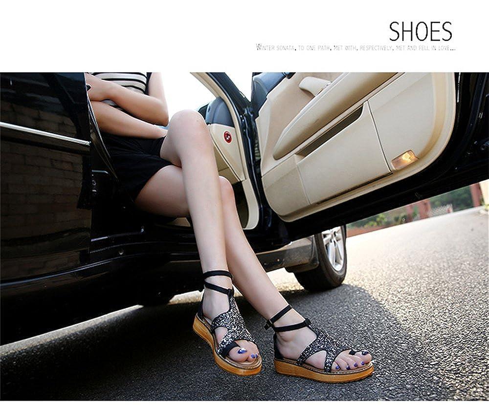 PRETTYHOMEL Women's Beach Sandals Summer Soft Female Casual Shoes Women Breathable Walking Unisex Women Shoes Shoes B07CYT2RGR 40/9.5 B(M) US Women Black 4e24b9