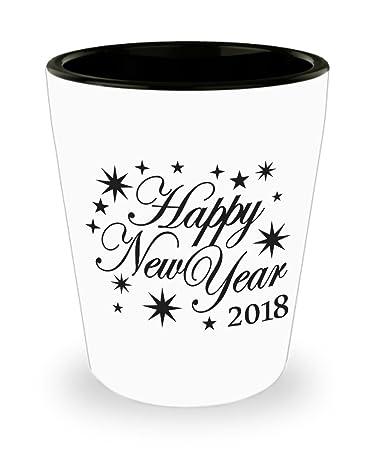 Amazon.com | Happy New Year 2018 Shot Glass Starburst Man Cave ...