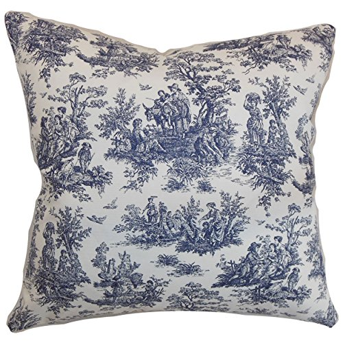 - The Pillow Collection Lalibela Toile Bedding Sham Blue, King/20