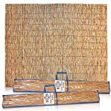 Sukkot Hadar Kosher Reed 10X10 Schach Sukkah Mat: 2 5X10 Foot Pcs Woven S'chach Kney Soof Roof Covers of Whole Jute Rods, Kashrut Certified with Wraps