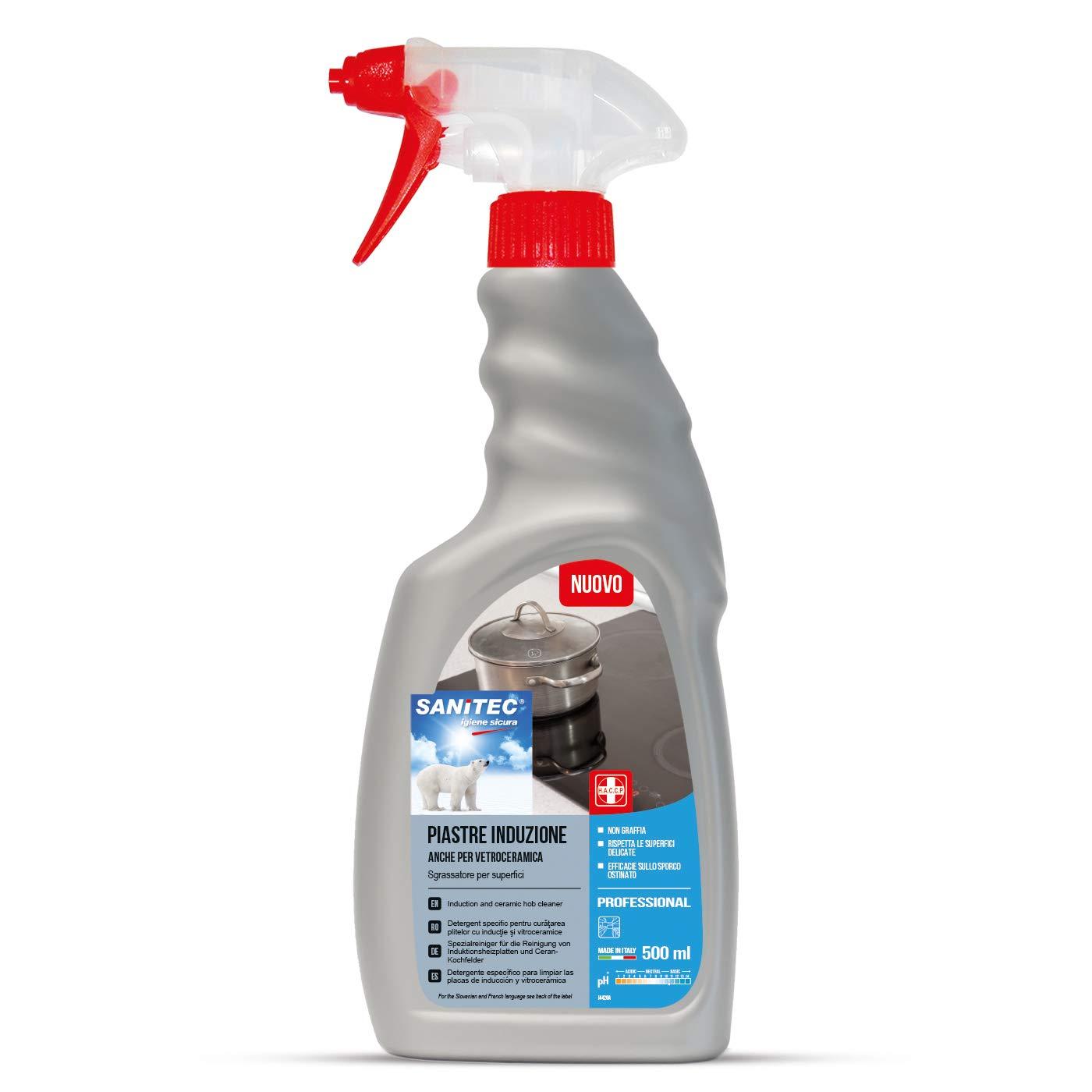 sanitec 1836 limpiador para placas Inducción y vitrocerámica ...