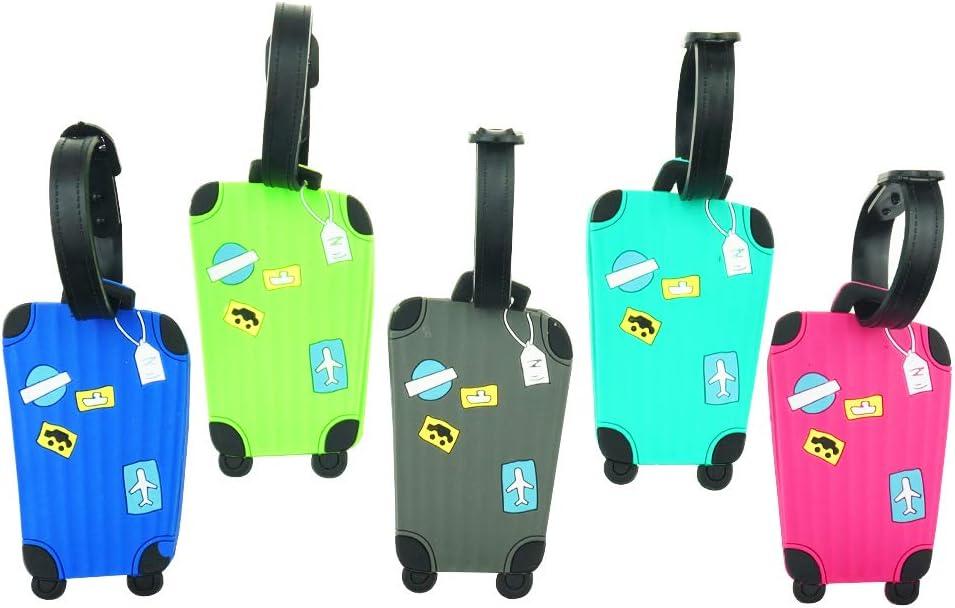 titulaire de carte de noms pour sacs /à bagages Valises Sacs /à dos Cpano 5pcs /Étiquettes de bagages /Étiquettes de voyage /Étiquettes didentification Couleur 1