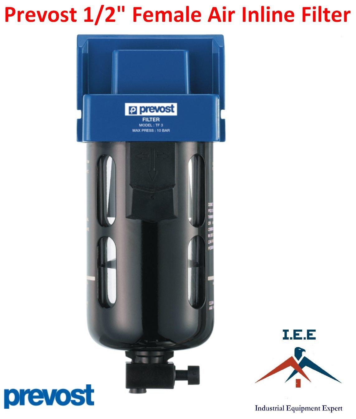 Industrial Equipment Expert Prevost Compressed Air Inline Moisture Trap Water Separator Filter 1/2 FNPT New by Prevost