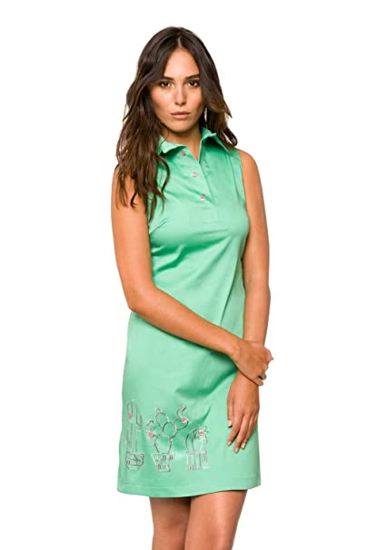 Divina Providencia Camisero Cactus, Vestido para Mujer, Verde, talla del fabricante: 38