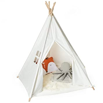 Kids Teepee Tent - Childrens Indian Tipi Tent for Indoor u0026 Outdoor Play - Cream  sc 1 st  Amazon.com & Amazon.com: Kids Teepee Tent - Childrens Indian Tipi Tent for ...