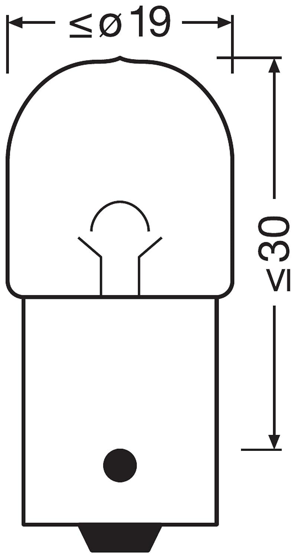 NEOLUX Standard R5W 24V 5W, N150 confezione da 10 lampada di segnale per camion