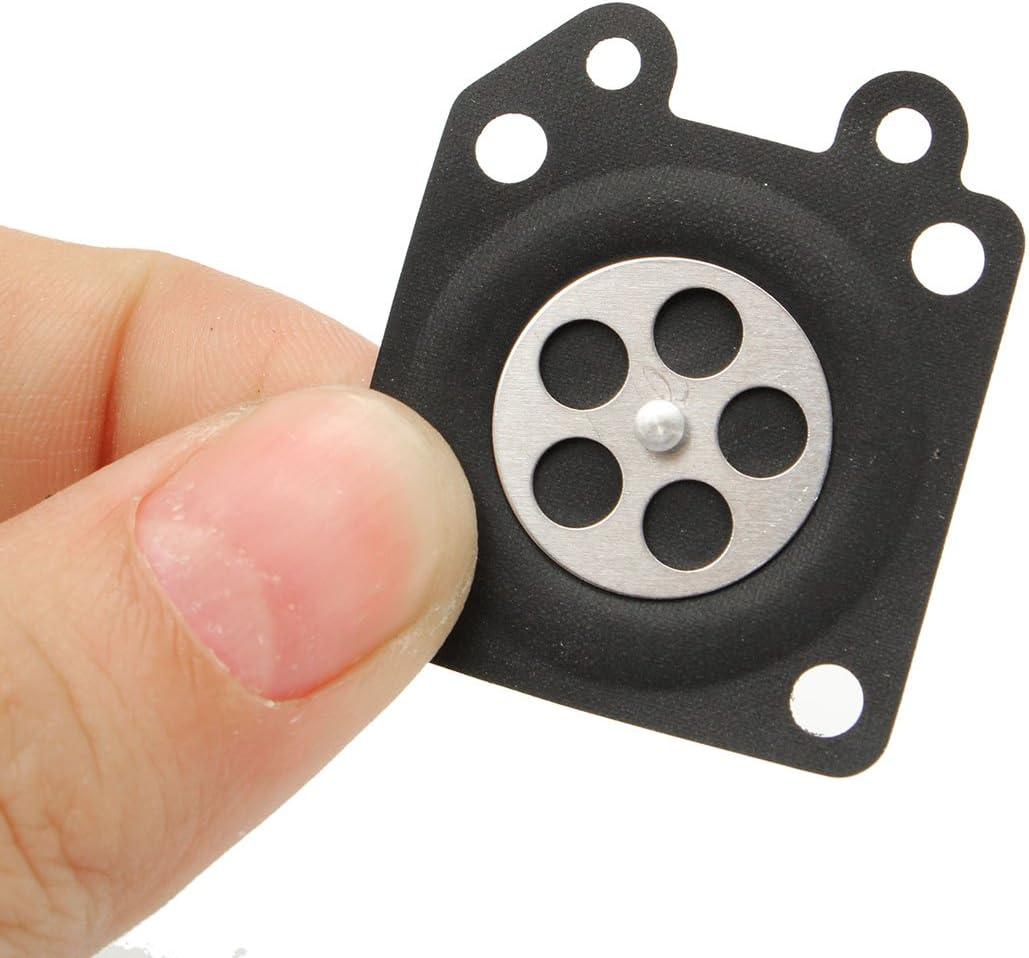 Alamor 10pcs carburatore guarnizioni dosatore membrana assemblaggio per Walbro 95-526