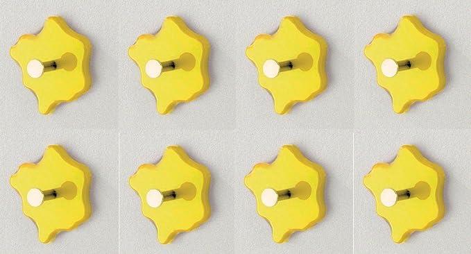 HAKU 8 Piezas Perchero botón tamaño (B/T/H) en cm: 11 x 5 x ...