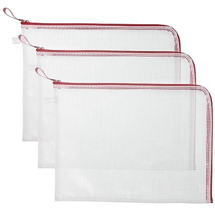 Bolsas grandes de plástico de malla con cierre de cremallera ...
