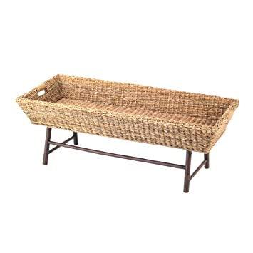 Amazon Com Padma S Plantataion Basket Coffee Table Kitchen Dining