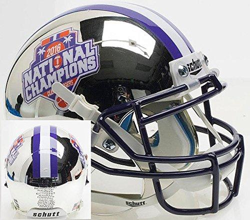 Schutt NCAA Clemson Tigers 2016 National Champions Silver Chrome Authentic XP Mini Helmet